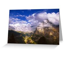 Fine Evening in the Alps Greeting Card