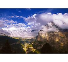 Fine Evening in the Alps Photographic Print