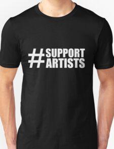 #SUPPORTARTISTS on  dark background - by m a longbottom - PLATFORM58 T-Shirt
