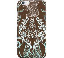 Piranha Damask - Mint iPhone Case/Skin