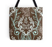 Piranha Damask - Mint Tote Bag