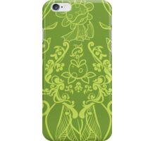 Piranha Damask - Green iPhone Case/Skin