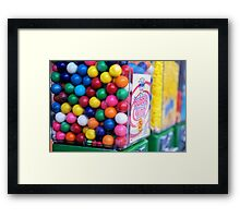 Bubble King Gumball Machine Framed Print