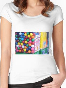 Bubble King Gumball Machine Women's Fitted Scoop T-Shirt