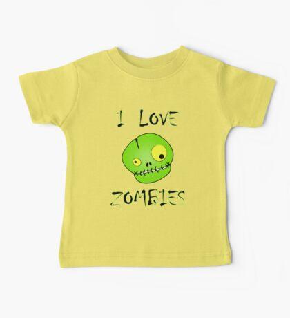 I Love Zombies Baby Tee
