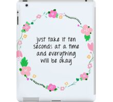 ten seconds at a time iPad Case/Skin