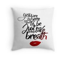 You are where you need to be. (Lana Parrilla)  Throw Pillow