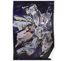 Martian Flower 4 - Original Art Large Wall Art Modern Abstract Expressionism Painting Poster