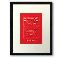 Nihilist Mixtape (Red) Framed Print