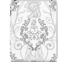 Piranha Damask - White iPad Case/Skin