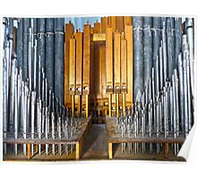 Massive Pipe Organ Pipes Poster
