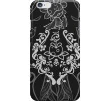 Piranha Damask - Black iPhone Case/Skin