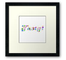 Candy Crush Tasty! ( fun Comedy Humour ) Framed Print