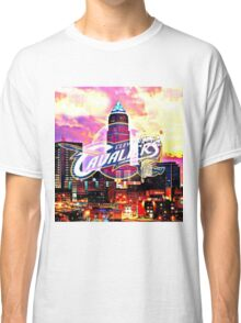 Cleveland Cavaliers Skyline and Logo Classic T-Shirt