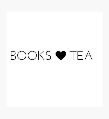 Books Tea (All Black) Photographic Print