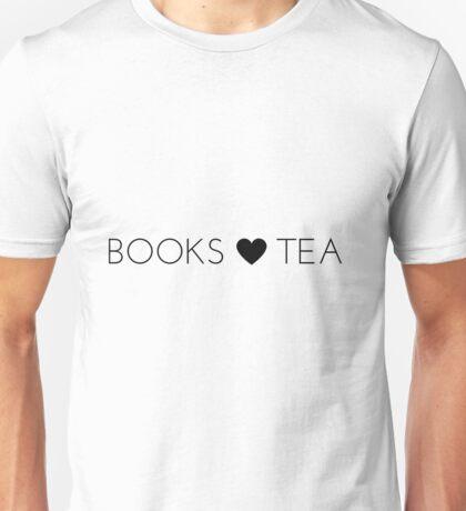 Books Tea (All Black) Unisex T-Shirt