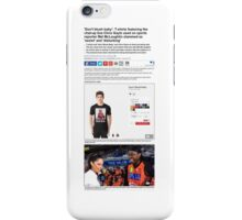 chris gayle daily mail t shirt-shirt iPhone Case/Skin