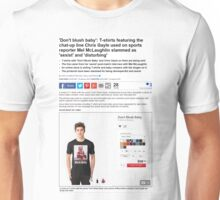 chris gayle daily mail t shirt-shirt Unisex T-Shirt