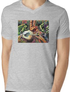 Hands Mens V-Neck T-Shirt