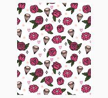 Flowers Diamonds Gems Hearts valentines// pastel pink rose andrea lauren Classic T-Shirt