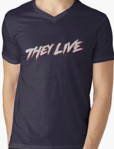 theylive Mens V-Neck T-Shirt