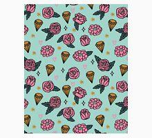 Flowers Diamonds Gems Hearts valentines// pastel pink mint andrea lauren Classic T-Shirt