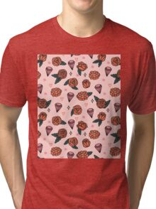 Flowers Diamonds Gems Hearts valentines// pastel pink red andrea lauren Tri-blend T-Shirt