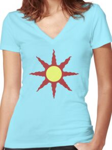 Grossly Incandescent Women's Fitted V-Neck T-Shirt