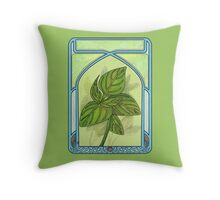Art nouveau. Basil. Throw Pillow