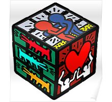 CUBE HARING Poster