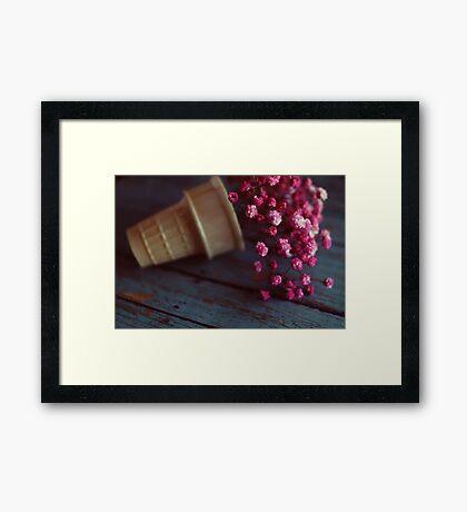flower cone II Framed Print