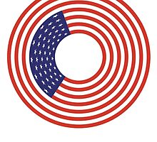 Stars & Stripes, ring, America, American Circle Flag, CIRCLE, USA, American, Americana by TOM HILL - Designer