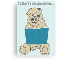 Sunday Reader Canvas Print