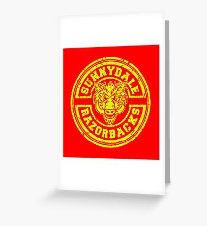 Sunnydale Razorbacks Greeting Card