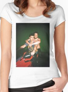 Seth Rogen and James Franco Women's Fitted Scoop T-Shirt