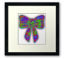 Lysergic bow Framed Print