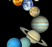 Solar System Montage by StocktrekImages