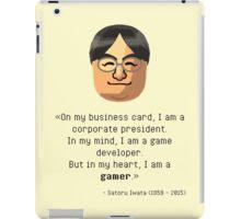 Mr. Iwata's wisdom iPad Case/Skin