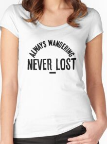 Always Wandering Never Lost Women's Fitted Scoop T-Shirt
