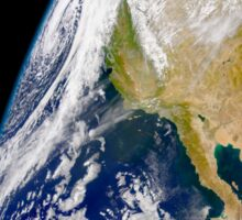 A massive low pressure system approaching the northern California coast. Sticker