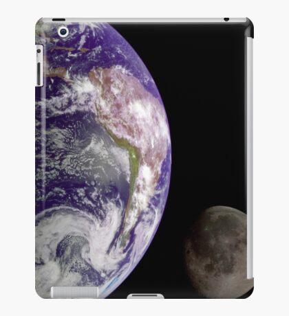 The Earth and the Moon iPad Case/Skin