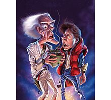 Back to the Future Caricature Poster Photographic Print