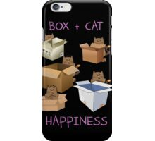 Happiness Cat with Box cute women t-shirt funny cats tee iPhone Case/Skin