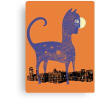 Night Cat owns the City Canvas Print