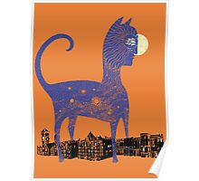 Night Cat owns the City Poster