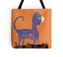 Night Cat owns the City Tote Bag