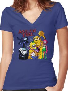 Asylum Time Women's Fitted V-Neck T-Shirt