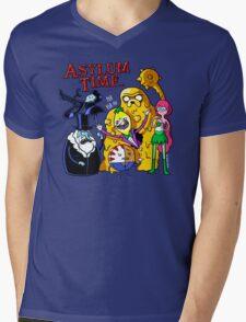 Asylum Time Mens V-Neck T-Shirt