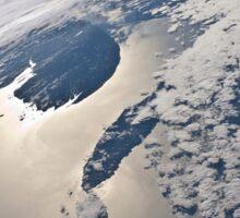 High-oblique view of the Gaspe Peninsula and Anticosti Island Sticker