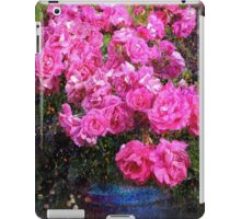 jane's roses with blue jar iPad Case/Skin